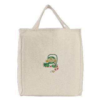 Weihnachtself Bestickte Tasche