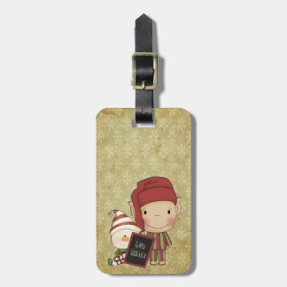 Weihnachtself Gepäckanhänger