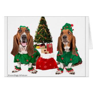 Weihnachtself-Mitteilungskarten Karte