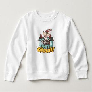 """Weihnachtself - """"sagen Sie Käse"""" Baby Sweatshirt"""