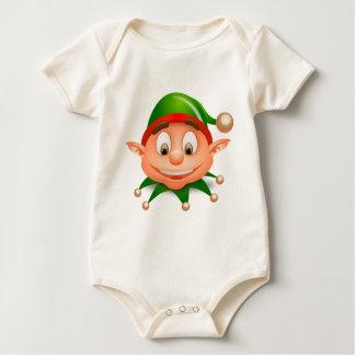 Weihnachtself-Weihnachtst-shirts Baby Strampler
