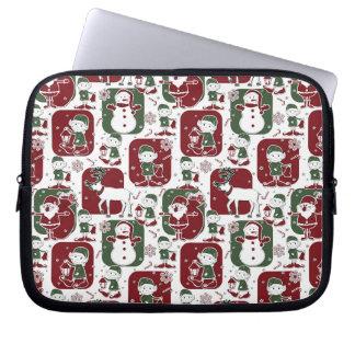Weihnachtselfe u. -Schneemänner Laptop Sleeve
