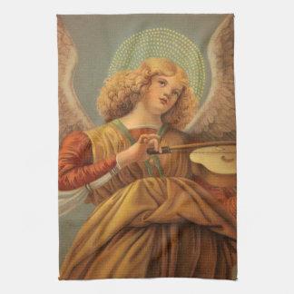Weihnachtsengel, der Violine Melozzo DA Forlì Geschirrtuch
