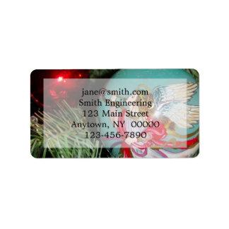 Weihnachtsengel - Weihnachtskunst - Adressaufkleber