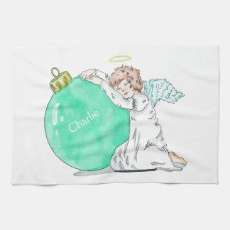 Weihnachtsengels-Name-Handtuch Handtuch