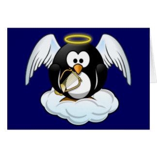 Weihnachtsengels-Pinguin Karte