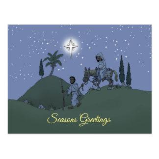 Weihnachtsentwurf auf einer Postkarte