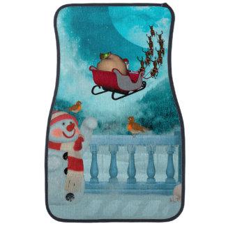 Weihnachtsentwurf, Weihnachtsmann Autofußmatte