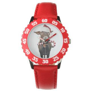 Weihnachtsesel - Sankt-Esel - Esel Sankt Armbanduhr