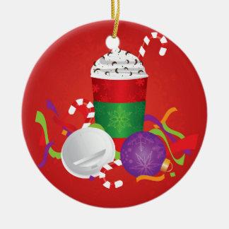 WeihnachtsEspresso-Getränk, zum zu gehen Schale Keramik Ornament