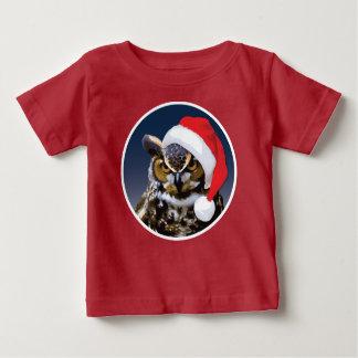 Weihnachtseule - Baby-feiner Jersey-T - Shirt