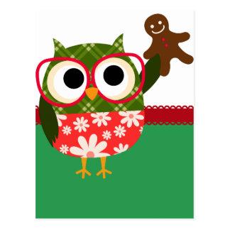 Weihnachtseule Postkarte