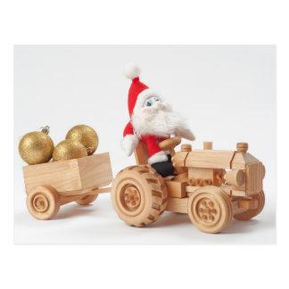 Weihnachtsfahrer Postkarte