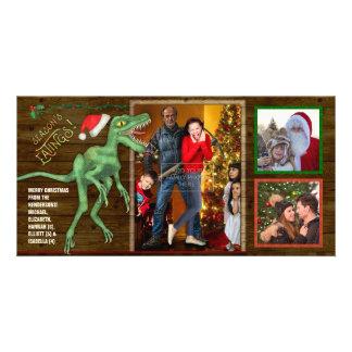 Weihnachtsfamilien-Fotolustiger Karte