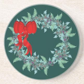 Weihnachtsfarneclematis-BlumeWreath mit Blumen Untersetzer