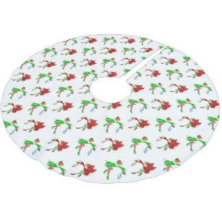 Weihnachtsfeen mit Mistelzweig-Muster Polyester Weihnachtsbaumdecke