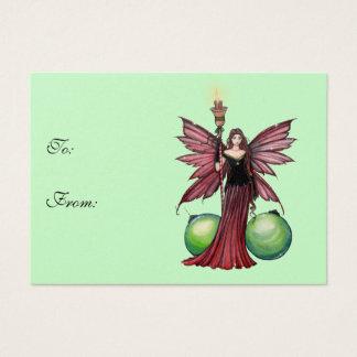 Weihnachtsfeenhafte Geschenk-Umbauten Visitenkarte