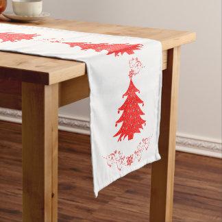 Weihnachtsfeier-Bäume und Sterne Mittelgroßer Tischläufer