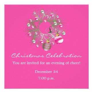Weihnachtsfeier-Rosa-Kranz-Einladung