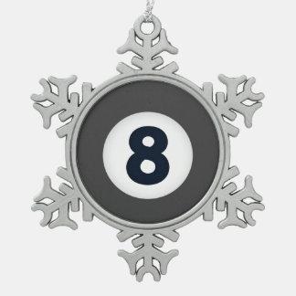 Weihnachtsfeiertag Billards acht Verzierung Schneeflocken Zinn-Ornament