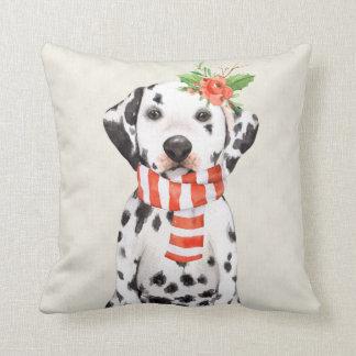 Weihnachtsfeiertags-Dalmatiner Kissen
