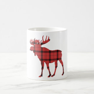 Weihnachtsfeiertags-Elcherotes kariertes Kaffeetasse