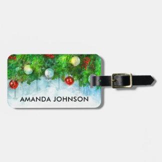 Weihnachtsfeiertags-Ferien-Reise-Gepäckanhänger Kofferanhänger