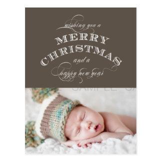 WEIHNACHTSfeiertags-FOTO-POSTKARTETAUPE Postkarte