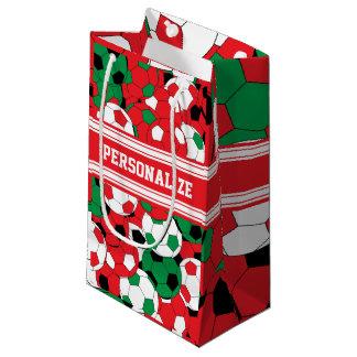 Weihnachtsfeiertags-Fußball-Collage Kleine Geschenktüte