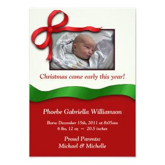 Weihnachtsfeiertags-Geburts-Mitteilungen 12,7 X 17,8 Cm Einladungskarte