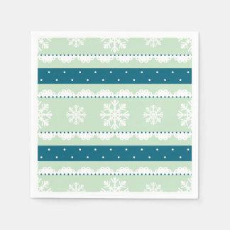 Weihnachtsfeiertags-Minze u. aquamarines Serviette