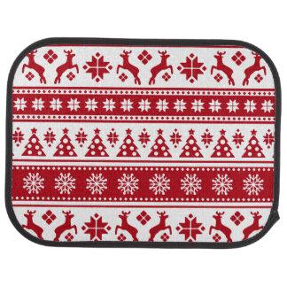 Weihnachtsfeiertags-nordisches Muster gemütlich Autofußmatte