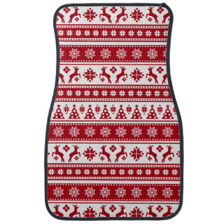 Weihnachtsfeiertags-nordisches Muster gemütlich Automatte
