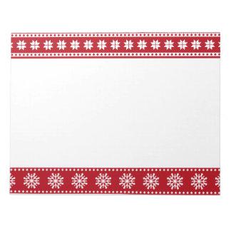 Weihnachtsfeiertags-nordisches Muster gemütlich Notizblock