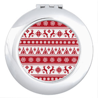 Weihnachtsfeiertags-nordisches Muster gemütlich Schminkspiegel