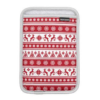 Weihnachtsfeiertags-nordisches Muster gemütlich Sleeve Für iPad Mini