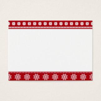 Weihnachtsfeiertags-nordisches Muster gemütlich Visitenkarte