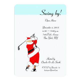 Weihnachtsfeiertags-offenes Haus-Einladungen Karte