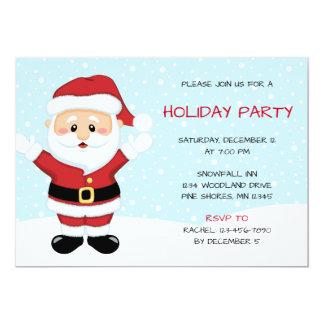Weihnachtsfeiertags-Party Einladungen Snowy Sankt