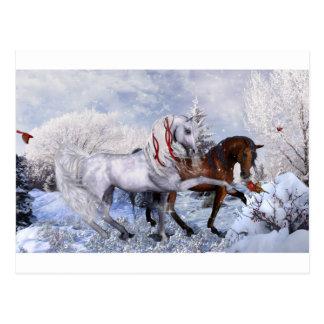 Weihnachtsfeiertags-Pferde Postkarte