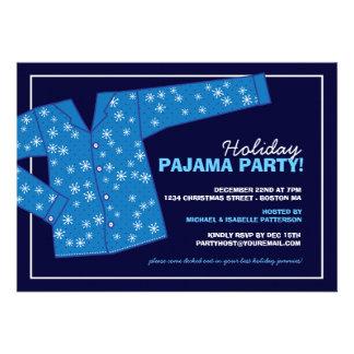 Weihnachtsfeiertags-Pyjama-Party Einladung