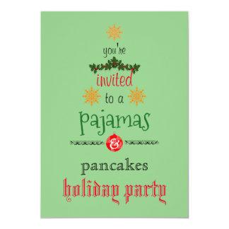 Weihnachtsfeiertags-Pyjama-u. 12,7 X 17,8 Cm Einladungskarte