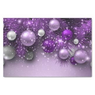 Weihnachtsfeiertags-Verzierungen - Purpur Seidenpapier