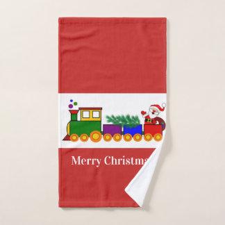 Weihnachtsfeiertags-Zug/rotes Handtuch