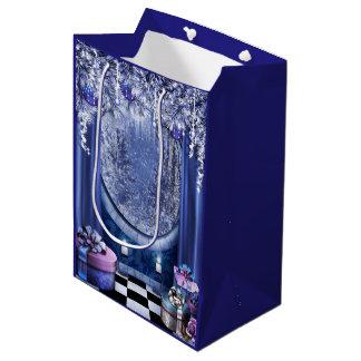 Weihnachtsfenster-mittlere Geschenk-Tasche Mittlere Geschenktüte