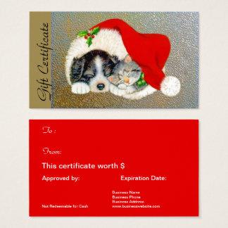 WeihnachtsFeriengeschenk-Zertifikat für Visitenkarte