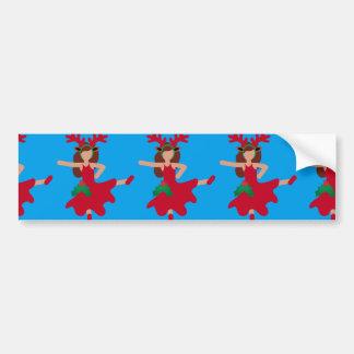 Weihnachtsflamenco-Tänzer emoji Autoaufkleber