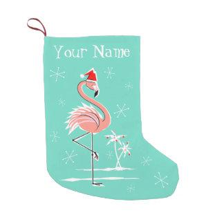 Weihnachtsflamingo-Namen-Strumpf doppelseitig Kleiner Weihnachtsstrumpf