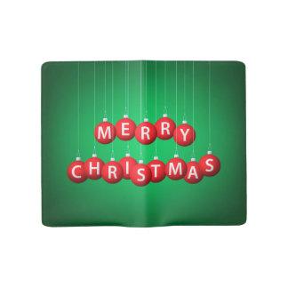 Weihnachtsflitter Großes Moleskine Notizbuch