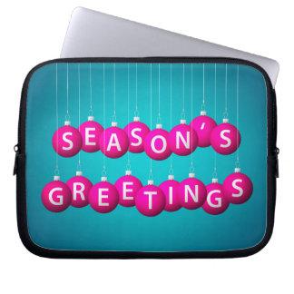Weihnachtsflitter Laptopschutzhülle